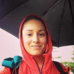 Summit selfie under my umbrella