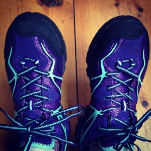 New shoes for the rest of the trail! Merrell Capras - waterproof. Thanks N&C!