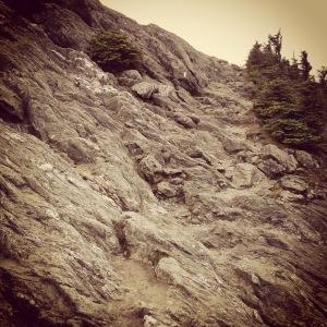 Hiking up Jay