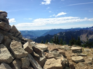 The cairn/looking south from Alta summit