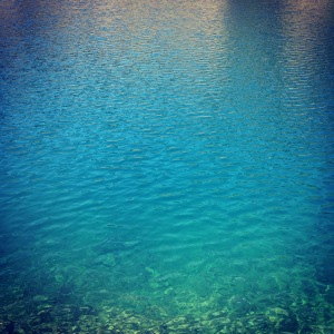 Clear blue waters of Rachel Lake