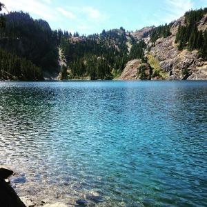 Soaking in Rachel Lake
