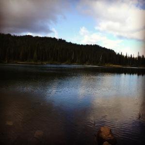 Gray and blue skies at Reflection Lakes