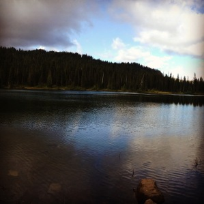 Gray and blue skies at Reflection Lakes