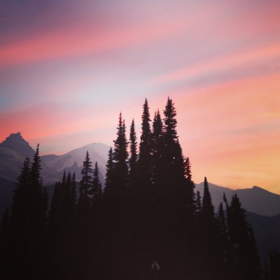 Sunset from camp