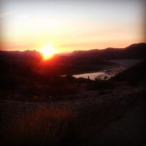 Sunset at the Windy Ridge Trailhead